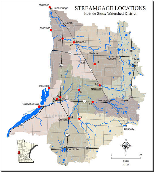 stream gage sites map